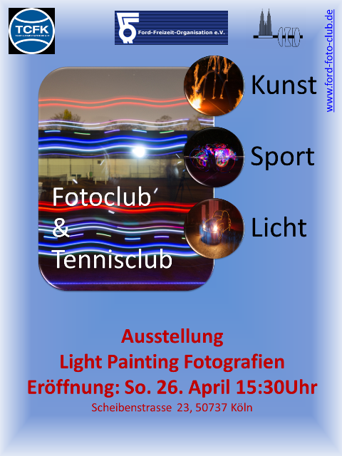 Tennisclub Vernissage und Lichtmalerei