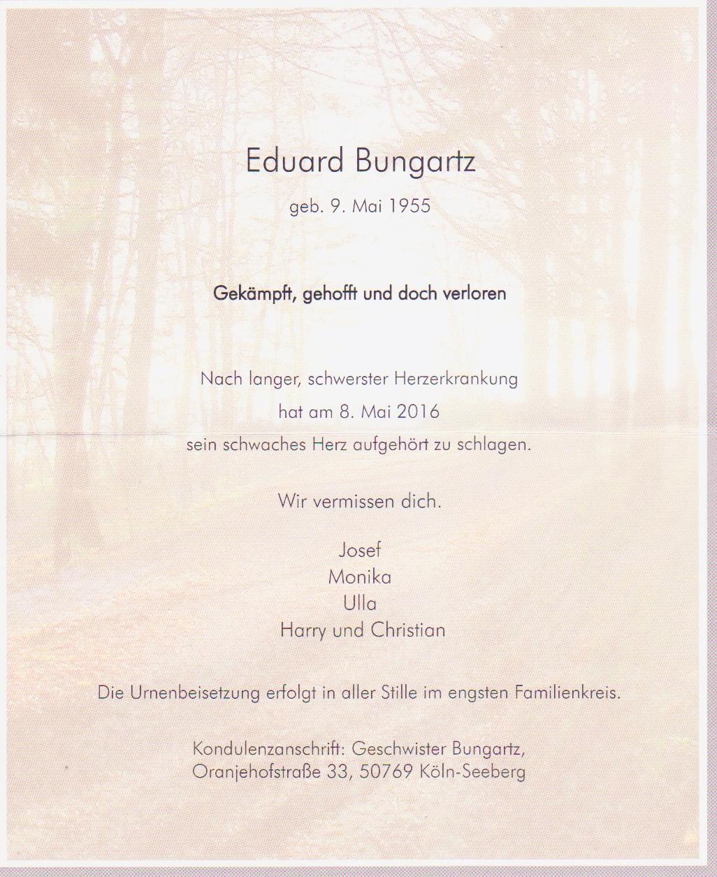 Tod Eduard Bungaartz